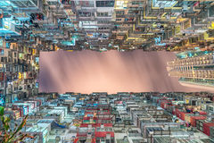 Bottom View of Buildings Under Dark Sky Royalty Free Stock Photography