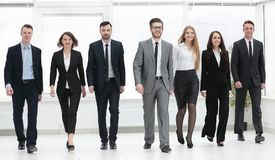 Bottom view. business team walking forward Royalty Free Stock Photography