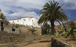 Bottom view of the cathedral, Fuerteventura, Betancourt Royalty Free Stock Photography