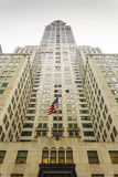 Bottom view of Chrysler building in New York, Royalty Free Stock Photos