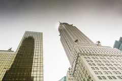Bottom view of the Chrysler Building Stock Image