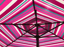 Bottom view of colorful umbrella Royalty Free Stock Photos