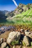 Bottom view of Czarny Staw Gasienicowy in Tatra Mountains, Poland. Europe Stock Photography