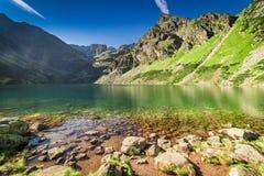 Bottom view of Czarny Staw Gasienicowy in Tatras, Poland. Europe Stock Photography