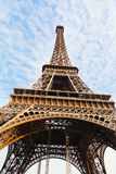 View of Eiffel tower in Paris Stock Photo