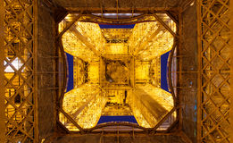 The bottom view of the Eiffel tower in Paris Royalty Free Stock Photos