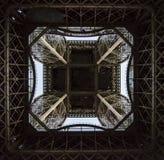 Bottom view of Eiffel tower Stock Photo