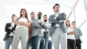 Bottom view.group of confident young people royalty free stock images