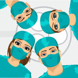 Bottom view of group of surgeons Royalty Free Stock Image