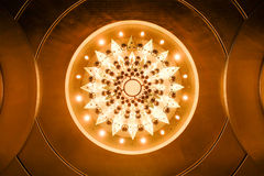 Bottom view of illuminated chandelier Royalty Free Stock Photos