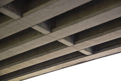 Bottom view of the industrial bridge. Traffic Bridge, view from below Stock Image