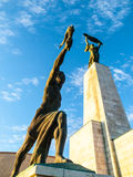 Bottom view of Liberty Statue on Gellert Hill in Budapest, Hungary, Europe Stock Photos