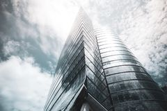 Bottom view of modern skyscraper Stock Photo