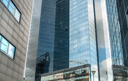 Bottom view of modern skyscrapers Stock Photography