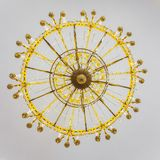 Bottom view on old chandelier Stock Photography