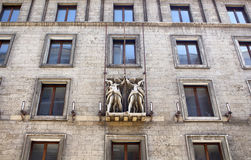 Bottom view of old, historical building in Berlin. Stock Photography