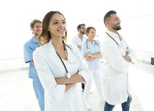 Bottom view.professional team of doctors medical center Royalty Free Stock Photography