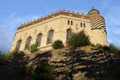 Bottom view of Rocchetta Mattei castle Royalty Free Stock Images