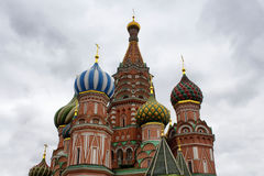 Bottom view of St. Basil`s Cathedral. Stock Photos