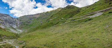 Stelvio pass final ascent Royalty Free Stock Photography