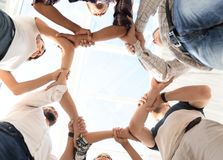 Bottom view. successful business team. The concept of team building.photo with copy space stock photo