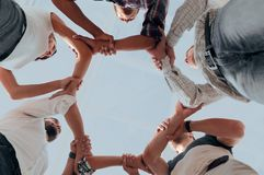 Bottom view. successful business team. The concept of team building.photo with copy space Stock Photography