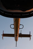 Bottom view of tail boom Stock Photography