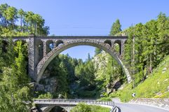 Arch of the Viaduct in Switzerland stock photo