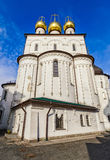 Bottom view of the wall of Feodorovsky cathedral Cathedral of the Icon of Our Lady Feodorovskaya. Royalty Free Stock Photography