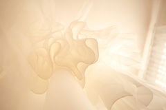 Bottom view of wedding dress. In pastel colours Stock Image