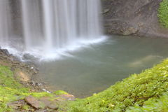 Bottom of Waterfall at Old Mill Royalty Free Stock Photography