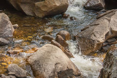 Bottom of waterfall Royalty Free Stock Photo