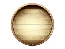 The bottom of a wine barrel on a white background. Included clipping path stock photography