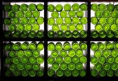 Bottom of wine bottles Royalty Free Stock Photography