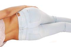 Bottom of woman. Royalty Free Stock Photos