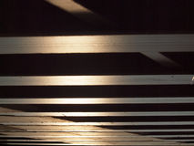 Bottom of wooden bridge Royalty Free Stock Images