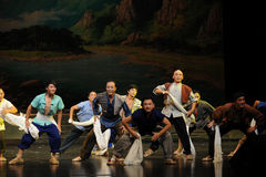 The bottom of the working people- Jiangxi opera a steelyard Royalty Free Stock Images
