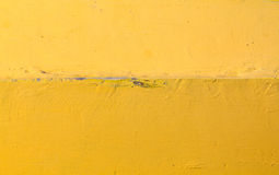 The bottom of a yellow boat hull Royalty Free Stock Photo