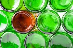 The bottoms of bottles Stock Photos