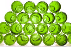 Bottoms of empty glass bottles Royalty Free Stock Images