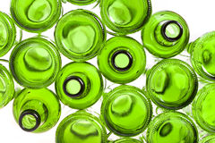 Bottoms of empty glass bottles Royalty Free Stock Photo