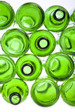 Bottoms of empty glass bottles Stock Image