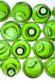 Bottoms of empty glass bottles Stock Image