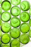 Bottoms of empty glass bottles Stock Photography
