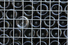 Bottoms of recycled wine bottles Stock Image