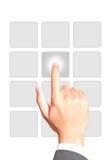 botton ώθηση χεριών Στοκ φωτογραφίες με δικαίωμα ελεύθερης χρήσης