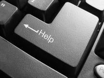 Botton Help. Botton in macro on the keyboard Royalty Free Stock Image