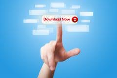 Bottone 2 di download di stampaggio a mano ora immagini stock libere da diritti