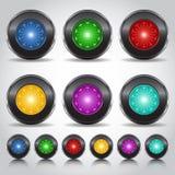bottone al neon Immagini Stock