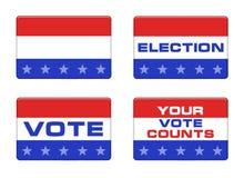 Bottone americano di elezione Immagini Stock Libere da Diritti